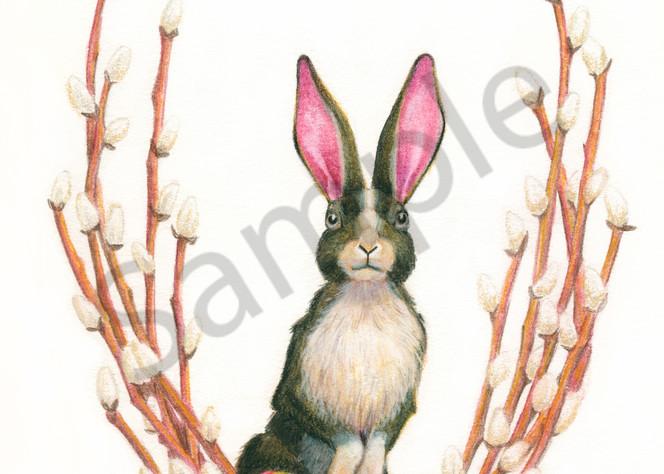Ostara Bunny & Painted Eggs