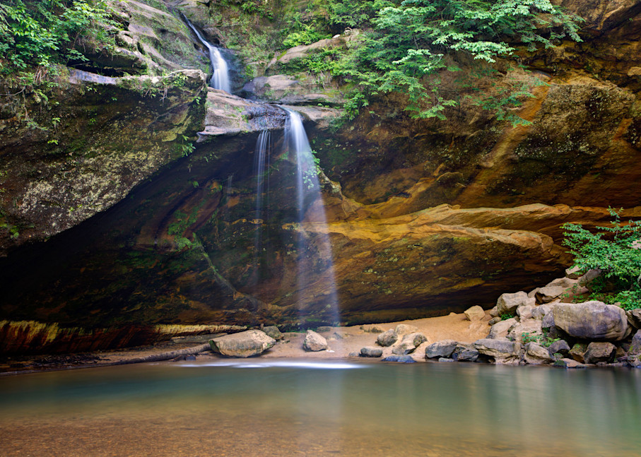 4163 4 5 4x6 Lower Falls Hocking Hills Art | Cunningham Gallery