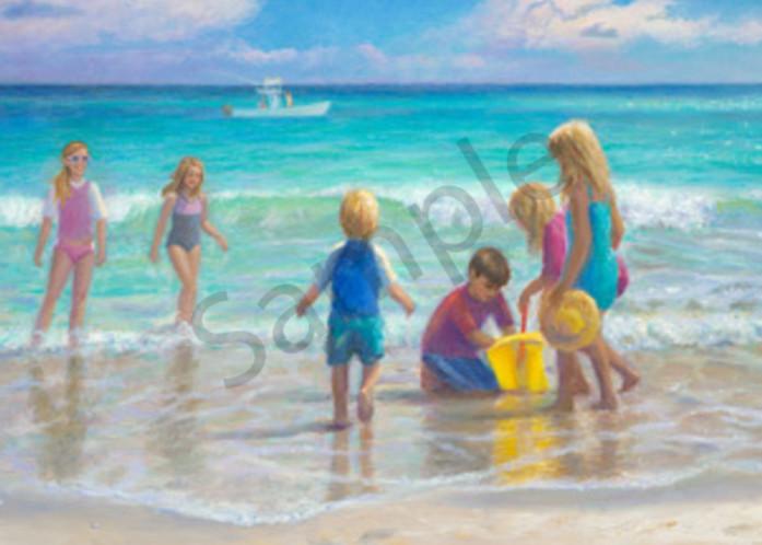 Kids On The Beach Art | Sally C. Evans Fine Art