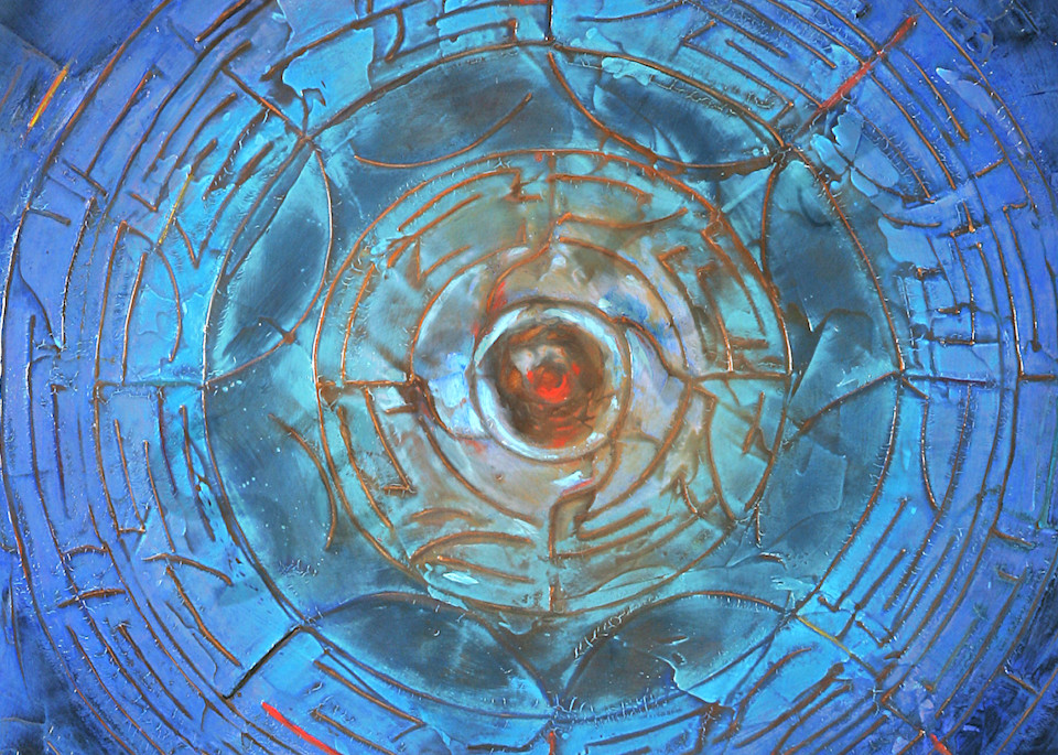 Wheel of Life | Abstract Acrylic Mixed Media | Gordon Meggison IV