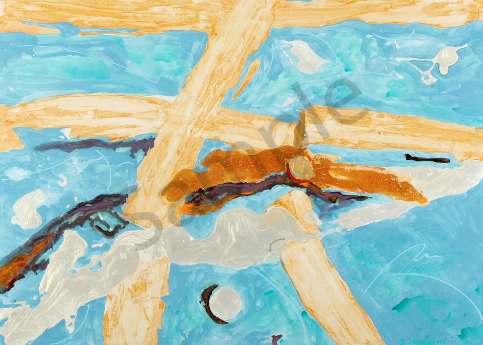 Icarus Rising | Abstract Acrylic Mixed Media | Gordon Meggison IV