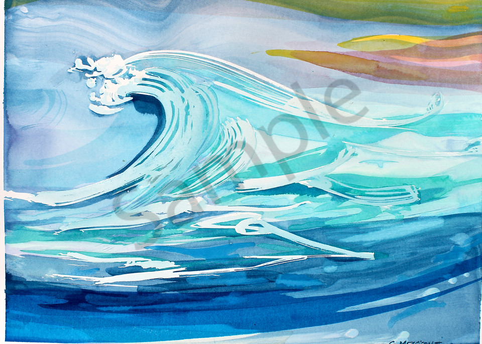 Great Wave | Abstract Watercolors | Gordon Meggison IV