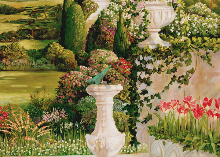 English Garden 3 | Murals in Classical Style | Gordon Meggison IV