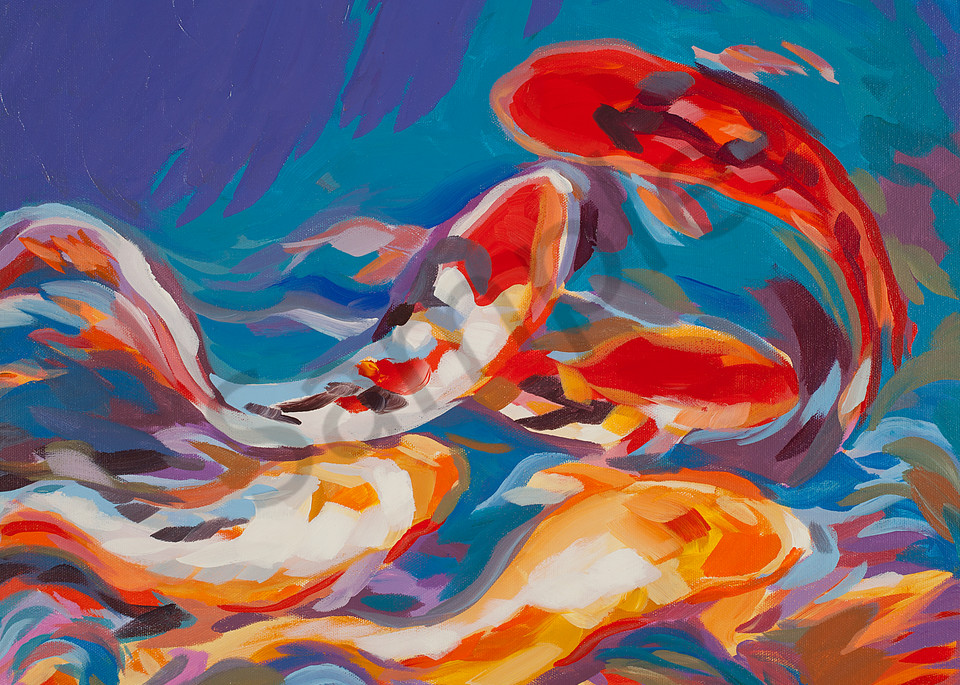Five Koi | Zen Landscapes | Gordon Meggison IV