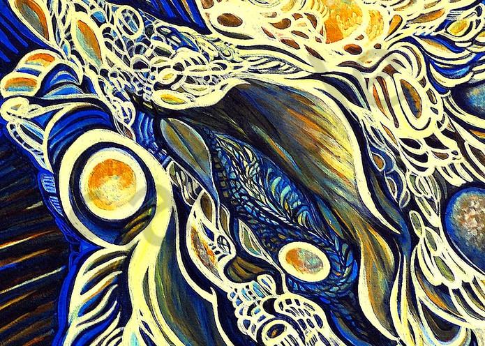 golden art, abstract, fractal pattern