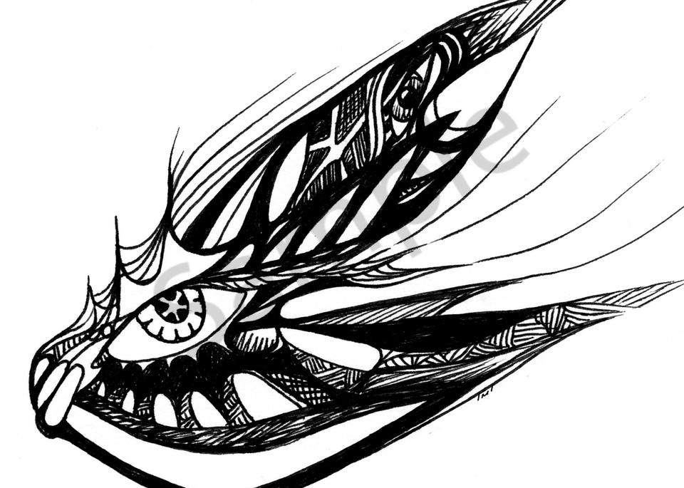 Surrealistic Reflections - Pen & Ink Art Prints - Eyecon