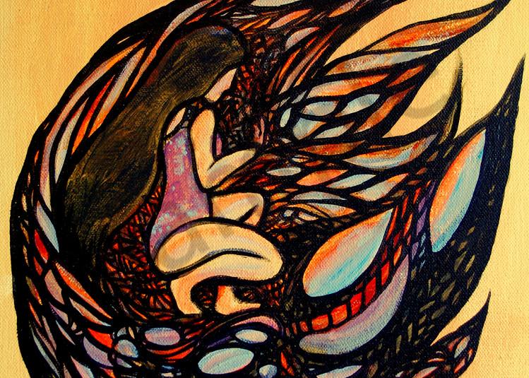 Surrealistic Reflections - Kneeling Woman Surreal