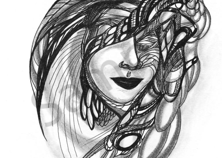 Unique Surrealistic Ink Art Blind Oracle
