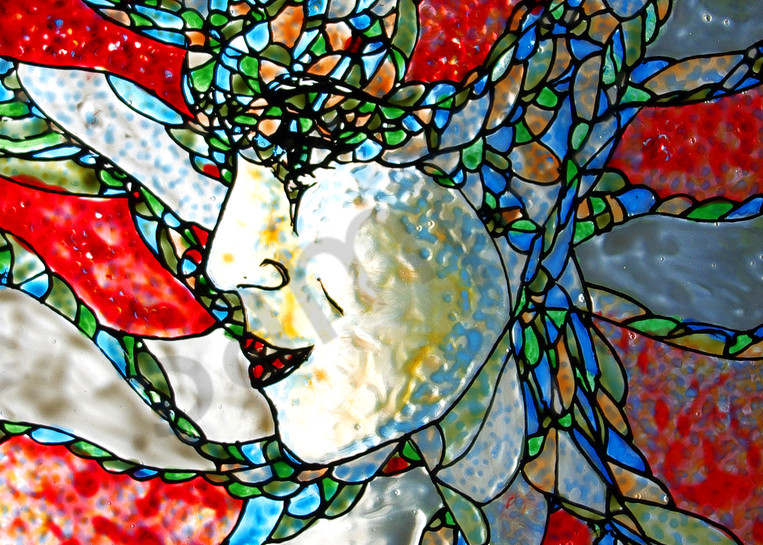 Painted Glass Art - Fauvist Fantasy