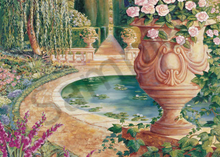 Roman Garden | Murals in Classical Style | Gordon Meggison IV