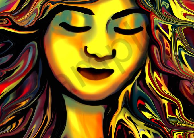 Surrealistic Digital Portrait in primary colors