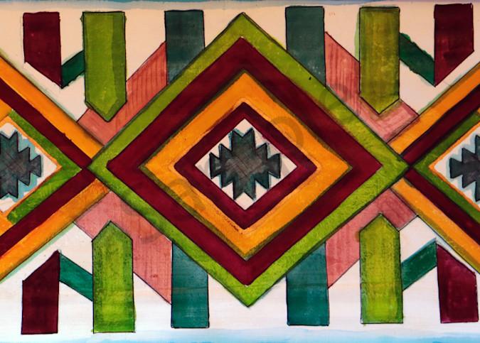 Tapestry Pattern Weaving Print