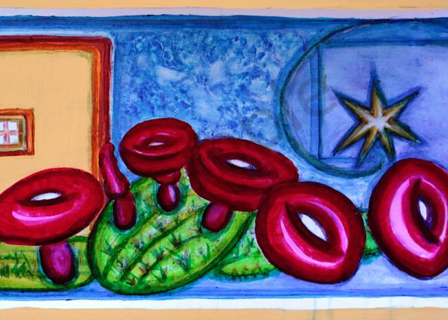 Pueblo Starry Cactus Print Magical Secret
