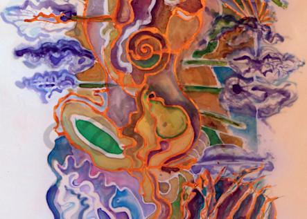 Lady River Lotus Print