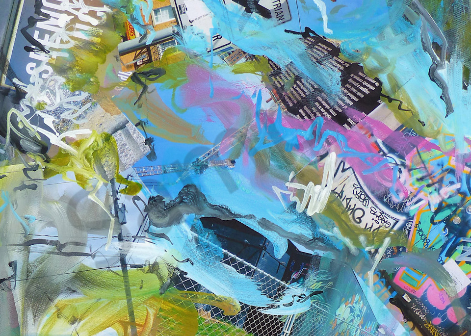 Buy City Scape - High Quality Print of Mixed Media original Dreamscape