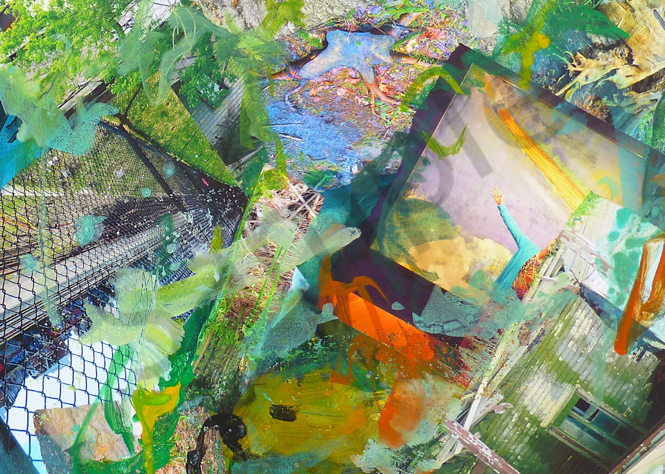 Buy Fenced - High Quality Print of Mixed Media original Dreamscape