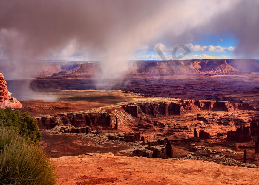Rainburst Over Canyonlands Photography Art   Mason & Mason Images
