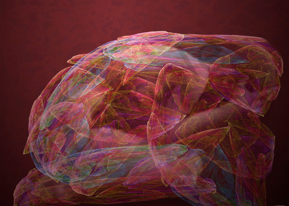 The Change hunched over female digital art by Cheri Freund
