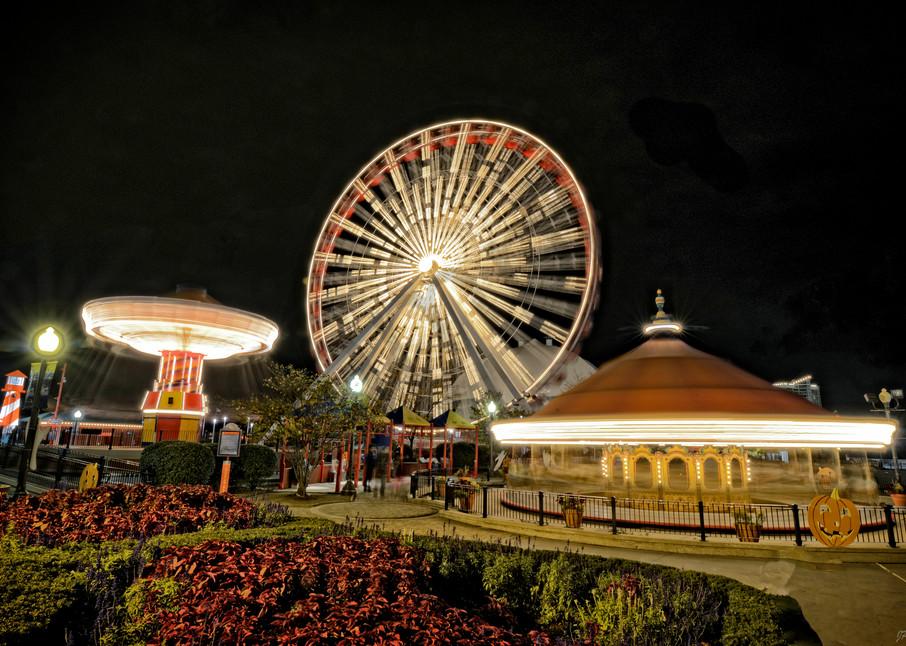 Navy Pier - original ferris wheel - Chicago