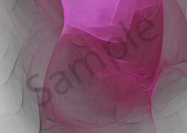Twisted Fate bright hot pink twist digital art by Cheri Freund