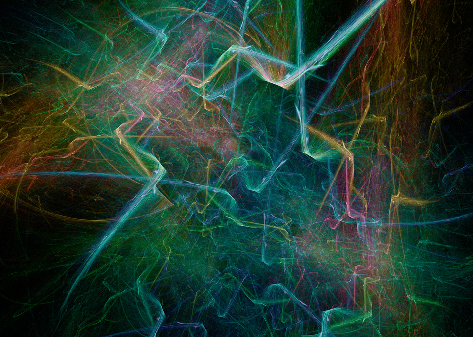 Electro Fracture digital shattered fractured art glass by Cheri Freund