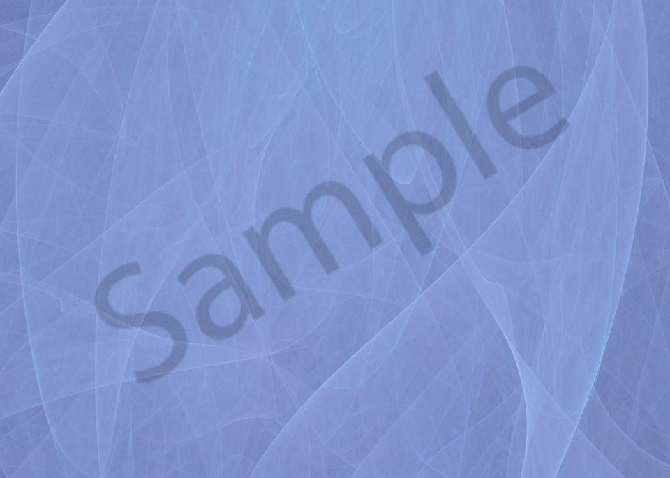 2 Tone Blue Sheer wind-blown curtain digital art by Cheri Freund