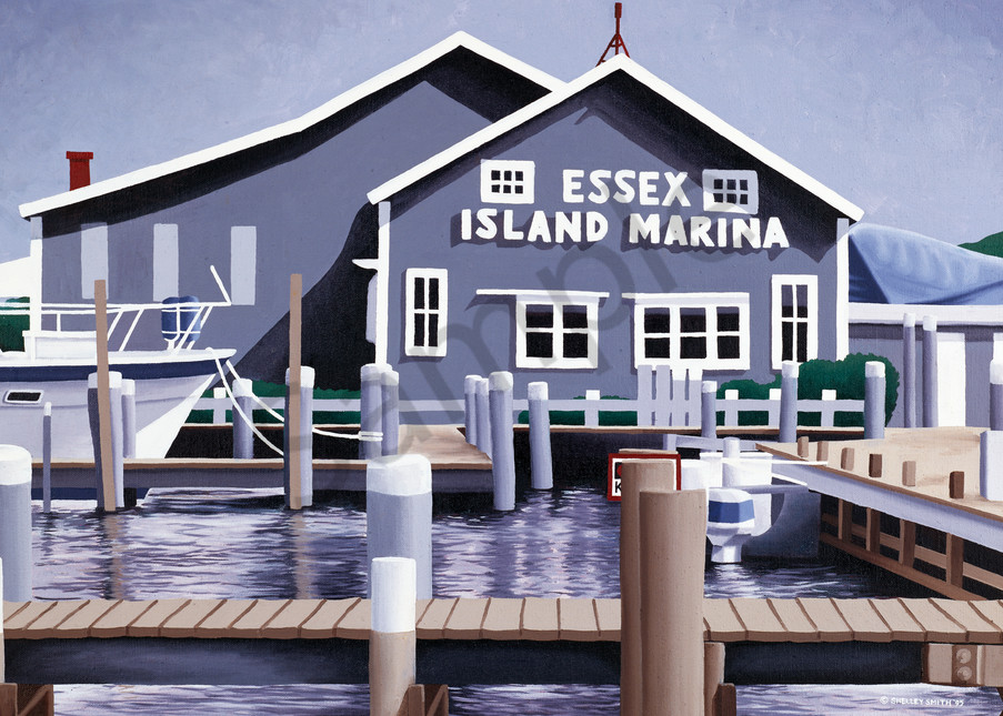 Essex Island Marina | Fine Art Prints & Notecards of Original Oil Painting