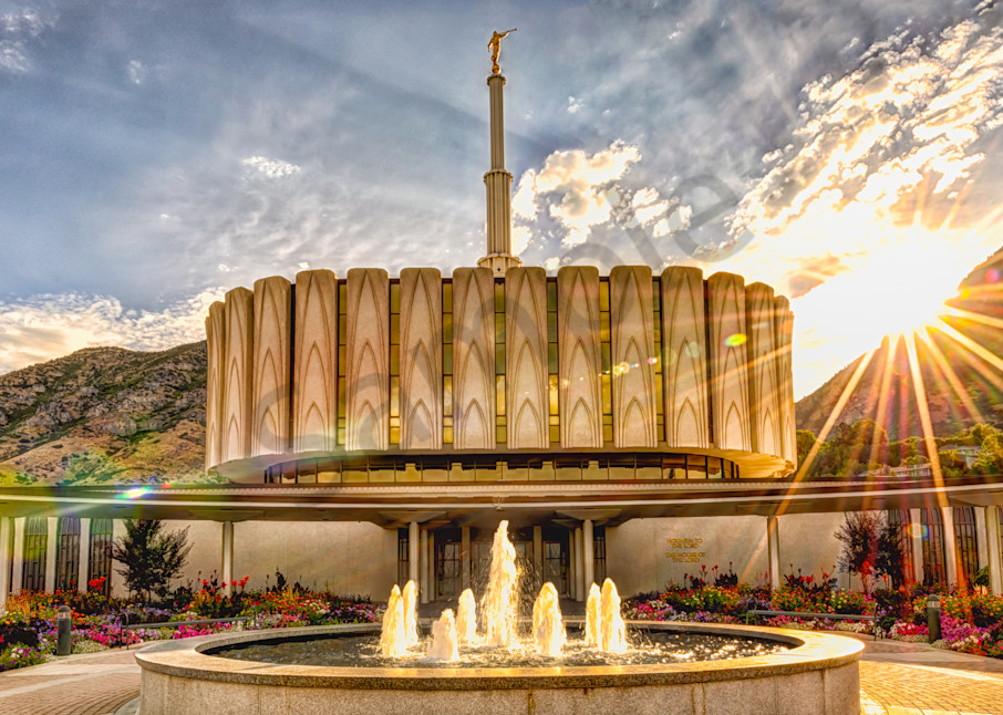 Brightly Beams - Provo Utah LDS Temple