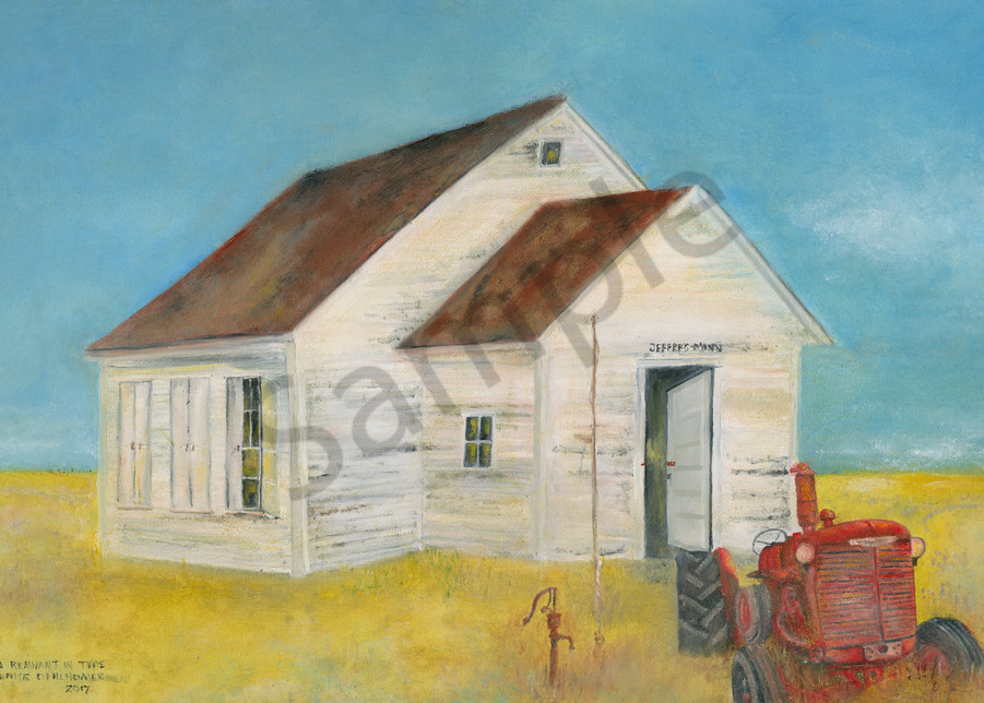 """""""Remnant In Time - School House"""" by Denise Dahlheimer 