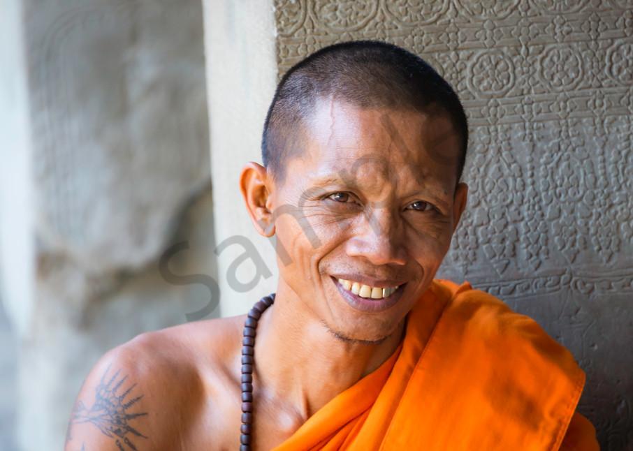 Playful   Buddhist Monk   Angkor Wat   Susan J Photography
