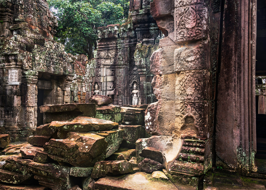 Sit for a While. Temple, Cambodia, ruins