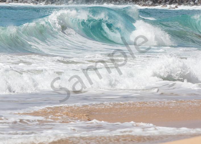 Rolling Hawaiian Waves Beach Photo for Sale.