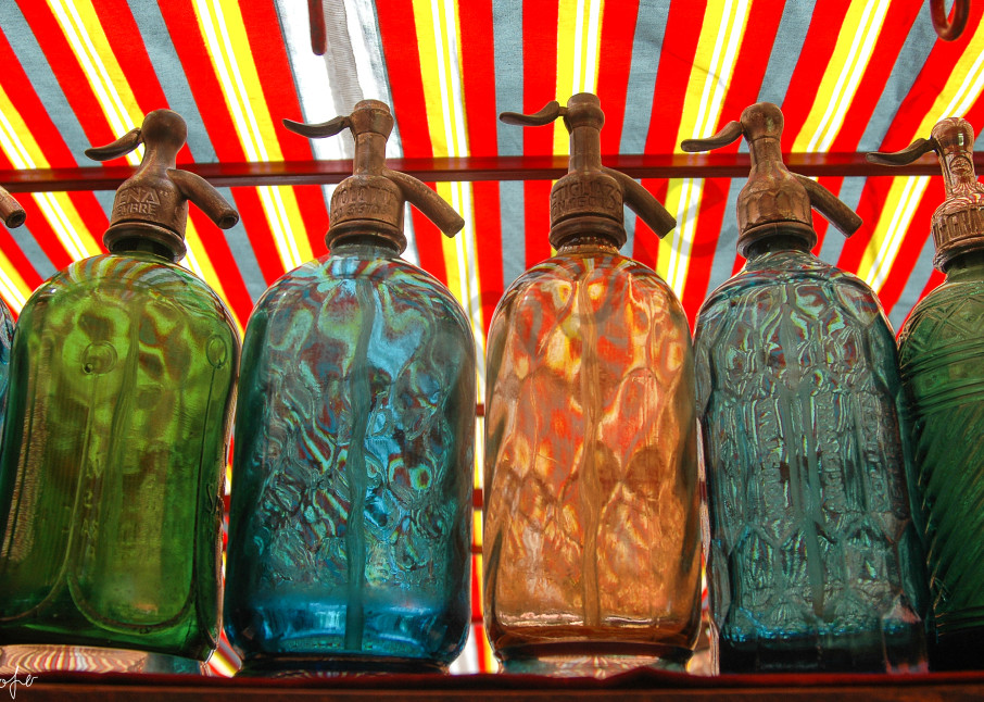 Seltzer bottles in Buenos Aires market