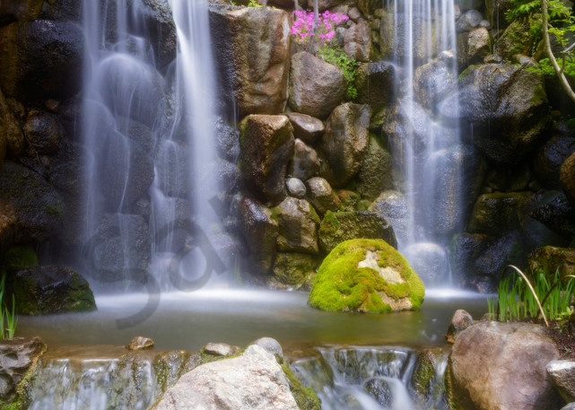 Beautiful waterfalls surrounded by a spring garden - Fine Art Prints by JP Sullivan Photography