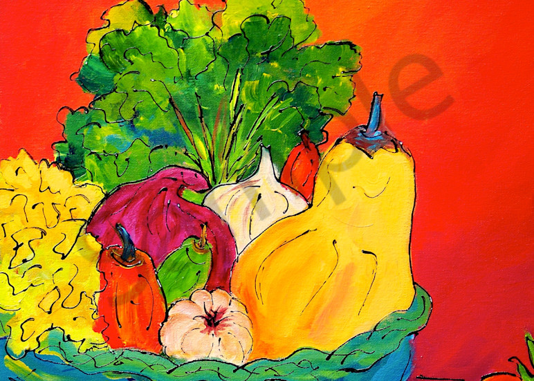 Farmers Market painting