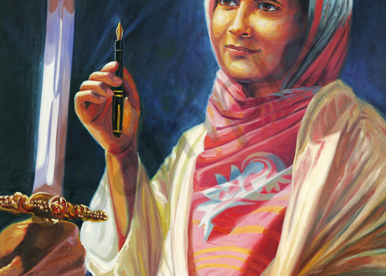 Malala Yousafzai Portrait Painting by Steve Simon