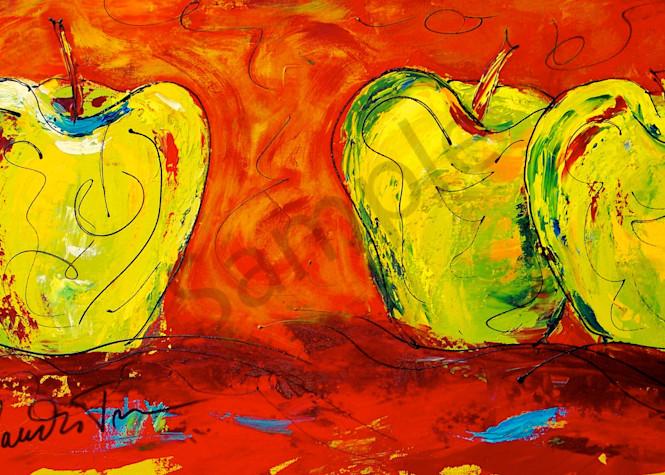 Three Crazy Green Apples