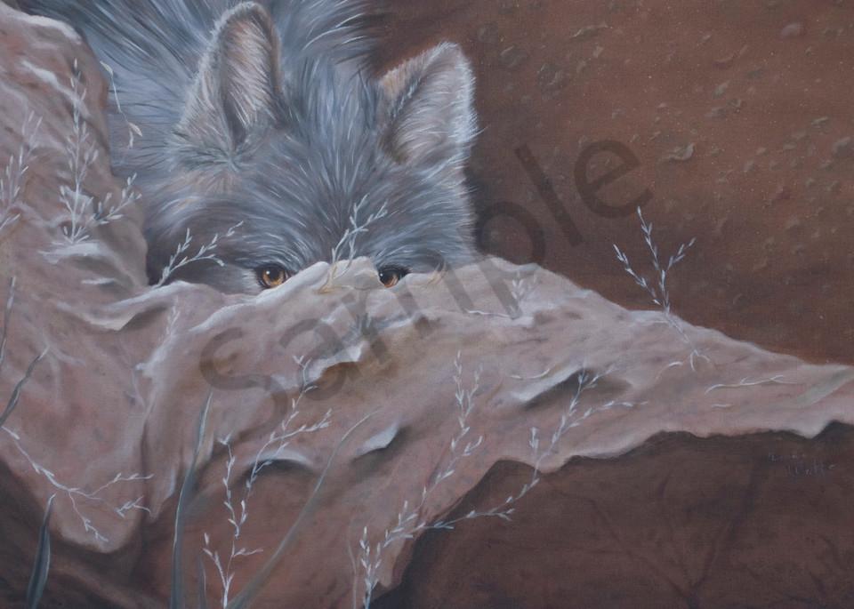 She Wolf Peeking Art   Art Relief