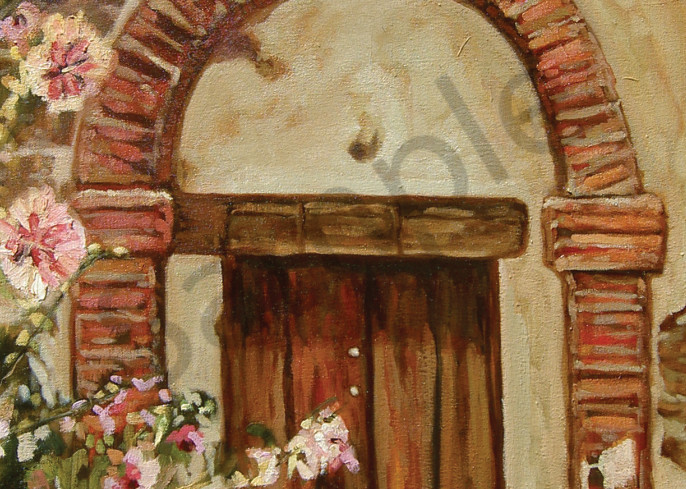 Mission Door With Flower Art | Geoffrey Butz Art & Design Inc