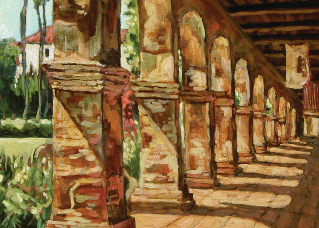 Mission Arches With Flags Art | Geoffrey Butz Art & Design Inc