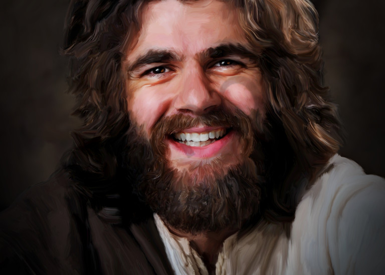 Jesus Happy To See You Art | MDM photo