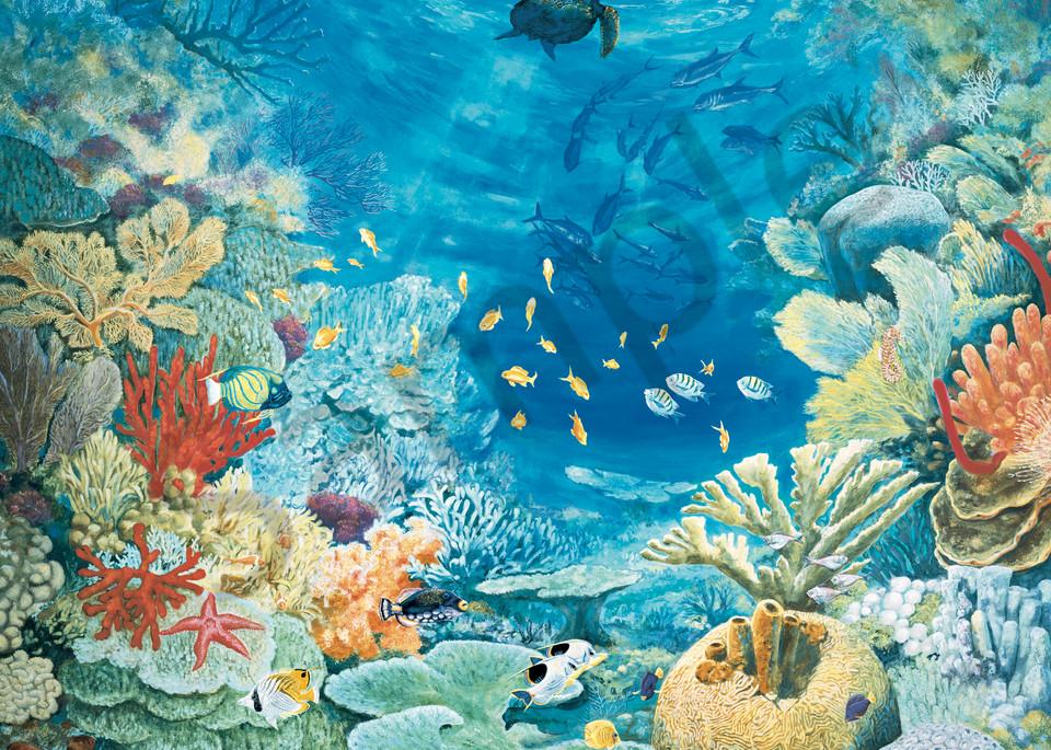 Turtle Reef   Murals in Classical Style   Gordon Meggison IV