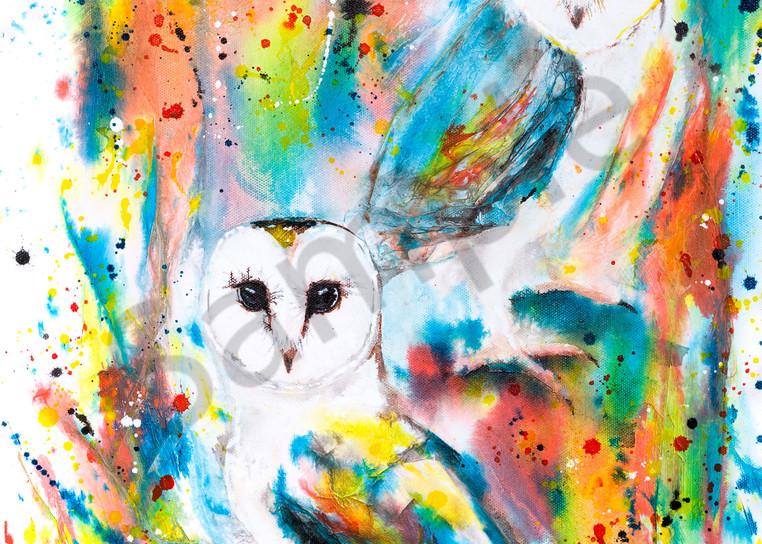 Ink Series -Owls I