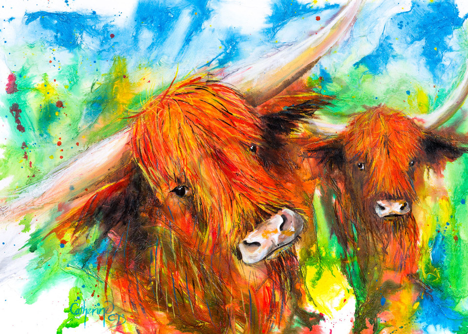 Ink Series   Highland Cows I Art | Art House Reproductions