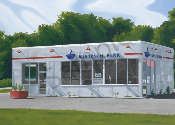 Gas Station   Milwaukee, WI   Fine Art Print