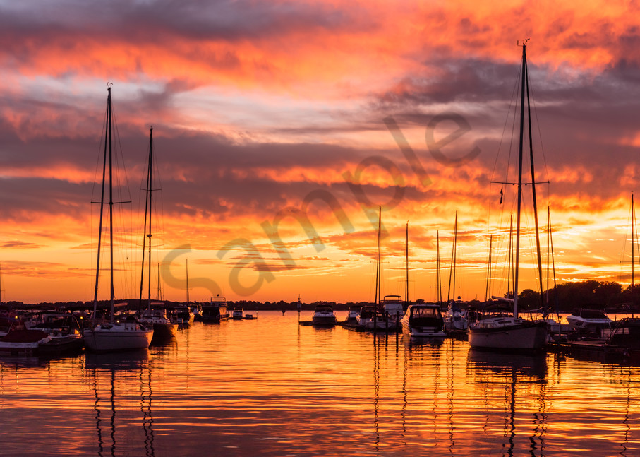 Colorful Lake Norman Sunset Photograph for Sale as Fine Art