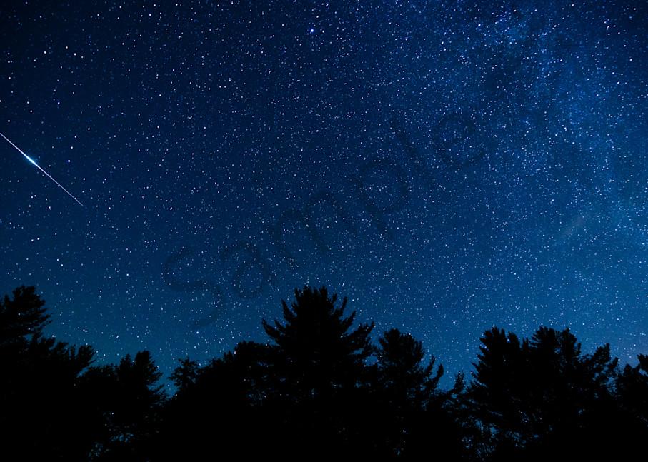 Iridium flare in the night sky Photograph for Sale as Fine Art