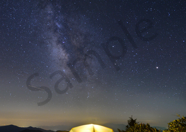 Camping At Night Along The Appalachian Trail Photograph for Sale as Fine Art