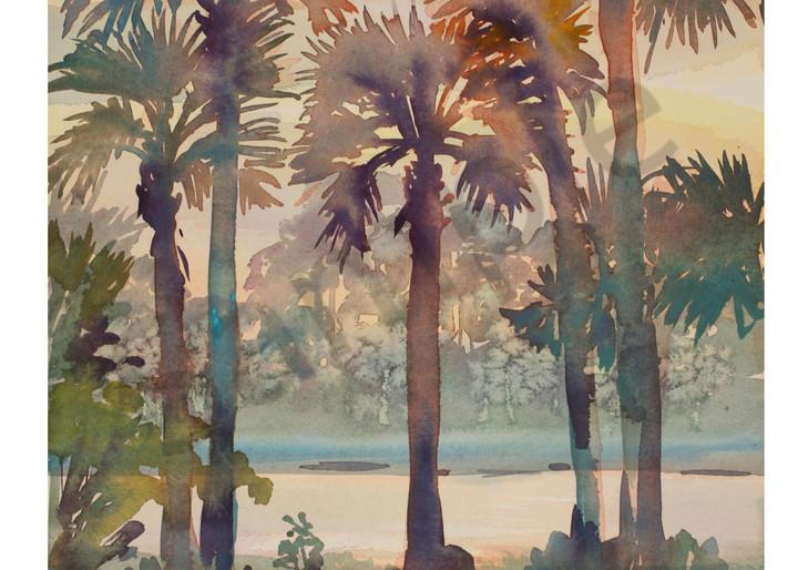 Intracoastal Palms 3 | Watercolor Landscapes | Gordon Meggison IV