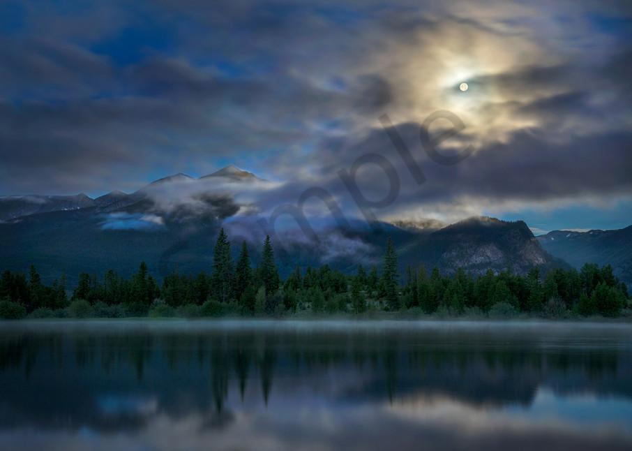 5019 Lake Dillon Moonset Art | Cunningham Gallery